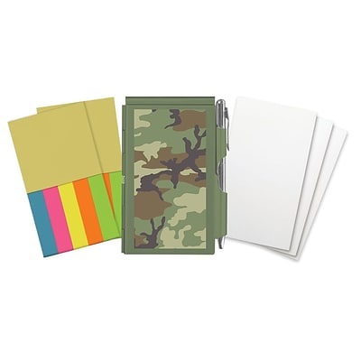 Wellspring Camouflage Flip Note and refills 2 3/4 x 4 3/8 Green (63111)
