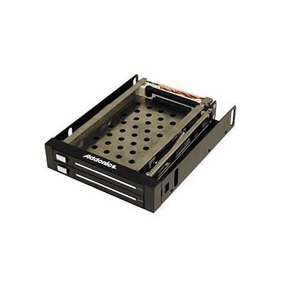 Addonics® Snap-In 2.5 SATA 3 Gbps Internal Double Drive Mobile Rack (AE25SNAP2SA)