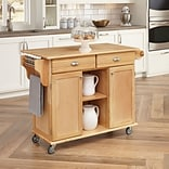 Home Styles 50 Hardwood Solids; Engineered Woods Kitchen Cart