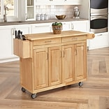 Home Styles 54 Asian Hardwood Benton Kitchen Cart