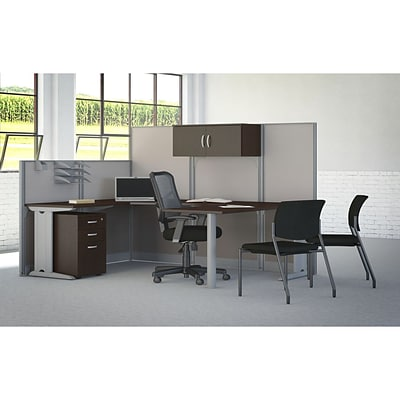 Bush Business Office in an Hour Collection 89W x 65D U Workstation with Storage and Chair