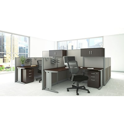 Bush Business Office in an Hour Collection 65W x 65D L Workstation with Storage and Chair