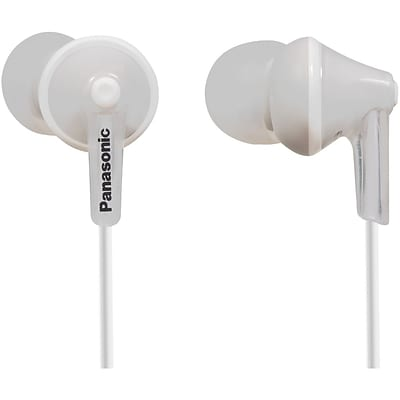 Panasonic RP-HJE125 Wired Earbud Stereo Headphones; White