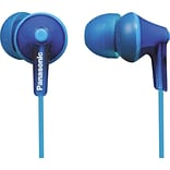 Panasonic RP-HJE125 Wired Earbud Stereo Headphones; Blue