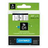 DYMO® D1 Black/Clear 3/8x23 Label Tape