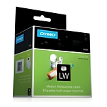 Dymo® White Multi-purpose Labels, F/models: EL40, 60, Turbo, 2-1/4Hx1-1/4W, 1000/Roll, 1 Roll/Box