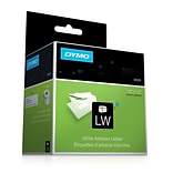 Dymo® White Address Labels, F/models: EL40, 60, Turbo & Seiko Printers, 1-1/8H x 3-1/2W, 260/Roll,