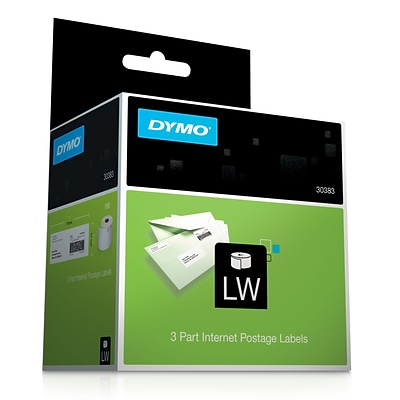 DYMO® Internet Postage 3-part White Labels, 2-1/4x7, 150 Labels/Roll, 1 Roll/Box