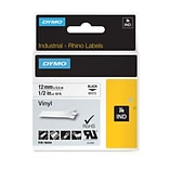 Dymo® RhinoPro Industrial Label Tape, 1/2(W) x 18(L), White
