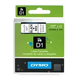 Dymo® D1 Series Label Tape; 1/2 x 23, Black on Red, Each