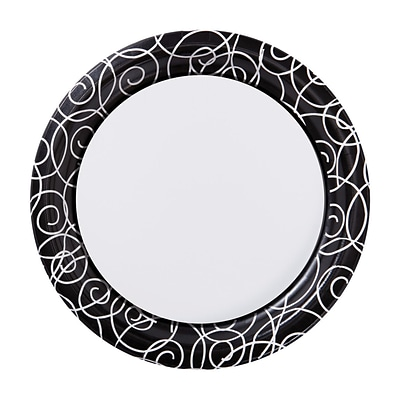 Hoffmaster Silver Swirl 7 Round Paper Plates; 200 per Case (750505)