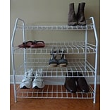 ATH Home Contemporary 4-Tier 12 Pair Shoe Rack; White