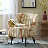 Madison Park Sophie Armchair; Red/Yellow