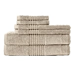 Rockford International Dream Castle Cotton Mosaic 6 Piece Towel Set; Beige