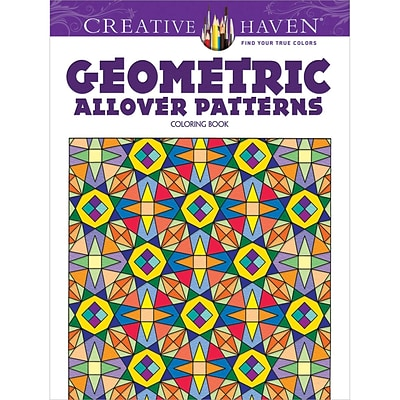 Creative Haven Geometric Allover Patterns Adult Coloring Book, Paperback