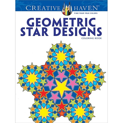 Creative Haven Geometric Star Designs Adult Coloring Book, Paperback