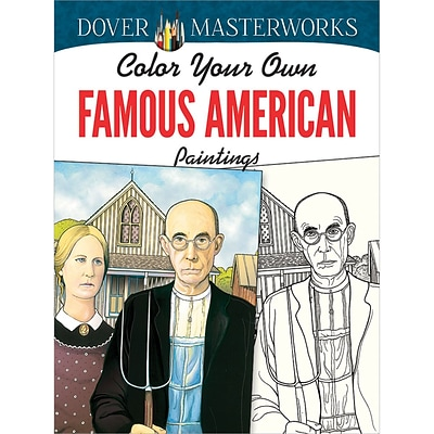 Color Your Own Famous American Paintings Adult Coloring Book, Paperback