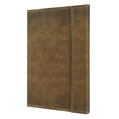 Sigel Vintage Hardcover Graph Notebook -A4 Extra Large Size with Magnetic Closure, Brown (SGA4VMSBR)