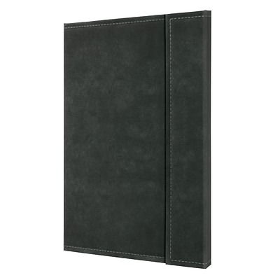 Sigel Vintage Hardcover Graph Notebook-A4 Extra Large Size w/Magnetic Closure, Dark Grey (SGA4VMSDG)