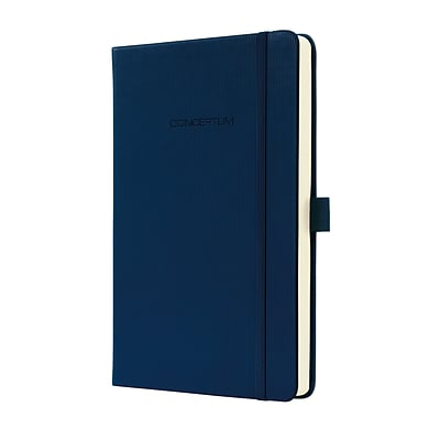 Sigel Hardcover Graph Notebook - A5 Journal Size with Elastic Closure, Blue (SGA5HES-BL)
