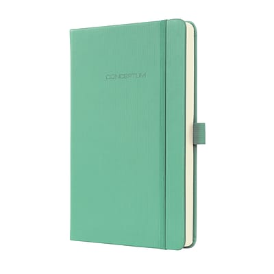 Sigel Hardcover Graph Notebook - A5 Journal Size with Elastic Closure, Aqua Green (SGA5HES-GR)