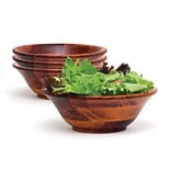 Lipper Cherry Finished Flared Footed Bowl 3 Piece Set
