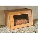 Lipper Bamboo Bread Box Tempered Glass Window