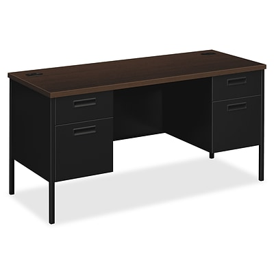 HON® Metro Classic Double Credenza, 60 x 24 x 29.5, 4 x File Drawer(s), Box Drawer(s), Double Pedestal