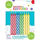 Spiral Design ReLight Birthday Candles RBGY