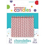 Amscan Spiral Birthday Candle 2.5 Red 12pk