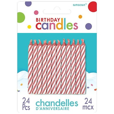 Amscan Spiral Birthday Candle, 2.5, Red, 12/Pack, 24 Per Pack (17105.06)