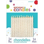 Amscan Spiral Birthday Candles 2.5 White