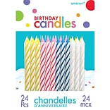 Amscan Spiral Birthday Candles, 2.5, Assorted, 12/Pack, 24 Per Pack (17105.99)