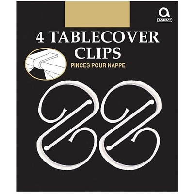 Amscan Plastic Tablecover Clips, 2.5L x 1.25W, 18/Pack, 4 Per Pack (34008)