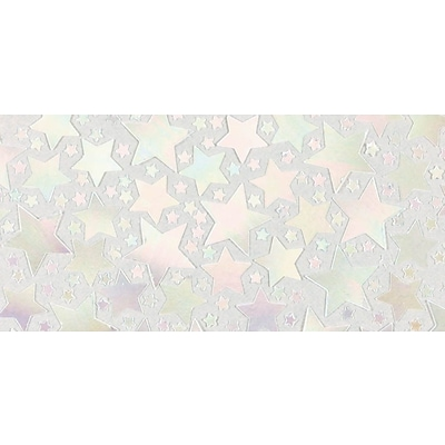 Amscan Metallic Star Confetti, 2.5oz, Iridescent