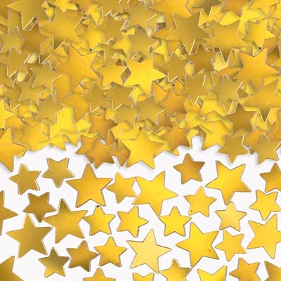 Amscan Metallic Star Confetti; 5oz, Gold, 2/Pack (37484.19)