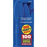 Amscan Mid-Weight Knife; Royal Blue 3pk