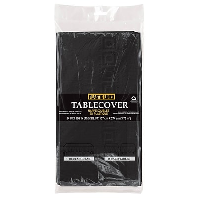 Amscan Paper Table Cover, 3-Ply, Black, 9/Pack (57115.1)