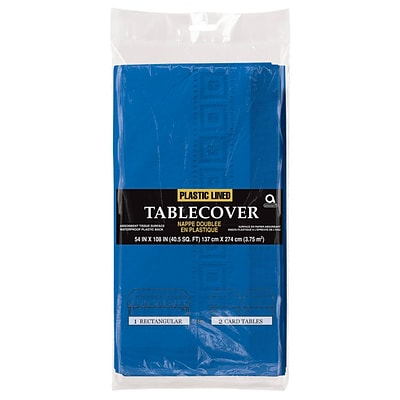 Amscan Paper Tablecover, 3-Ply, Royal Blue, 9/Pack (57115.105)