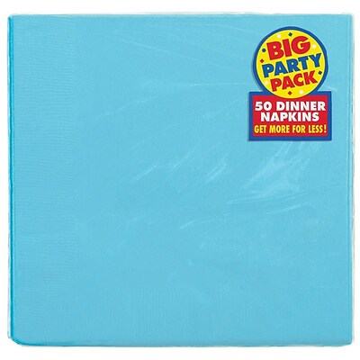 Amscan Big Party Pack Dinner Napkin, 2-Ply, Caribbean, 6/Pack, 50 Per Pack (62215.54)