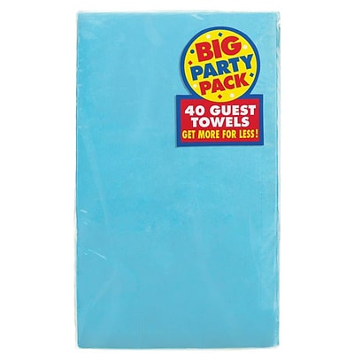 Amscan Big Party Pack Guest Towel, 2-Ply, Caribbean, 6/Pack, 40 Per Pack