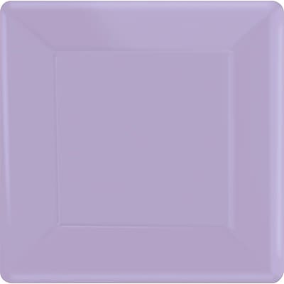 Amscan 7 x 7 Lavender Square Plate, 9/Pack, 20 Per Pack (64020.04)