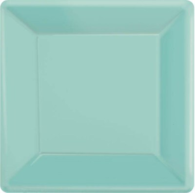"Amscan 7""x 7"" Robin Blue Square Plate;"