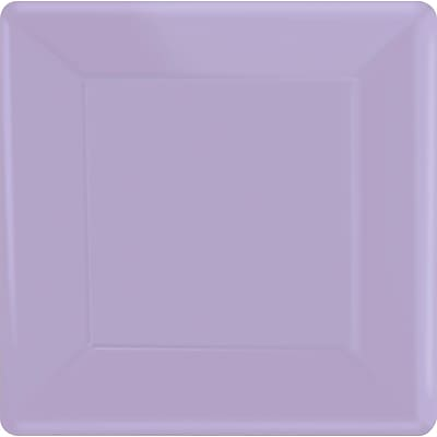 Amscan 10 x 10 Lavender Square Plate, 4/Pack, 20 Per Pack (69920.04)