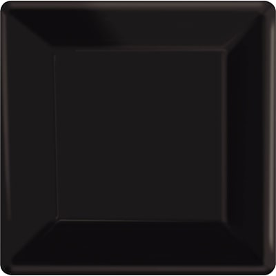 Amscan 10 x 10 Jet Black Square Plate, 4/Pack, 20 Per Pack (69920.1)