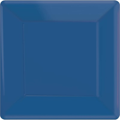 Amscan 10 x 10 Royal Blue Square Plate, 4/Pack, 20 Per Pack (69920.105)