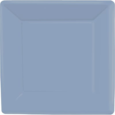 Amscan 10 x 10 Pastel Blue Square Plate, 4/Pack, 20 Per Pack (69920.108)