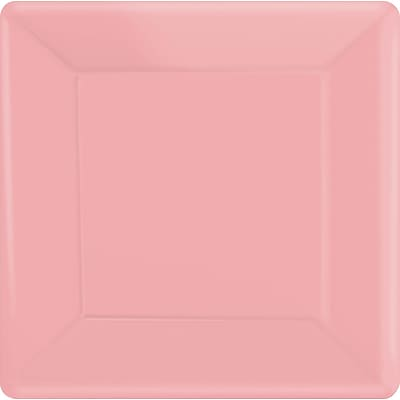 Amscan 10 x 10 Pink Square Plate, 4/Pack, 20 Per Pack (69920.109)