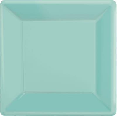 "Amscan 10""x10"" Robin Blue Square Plate 20pk"