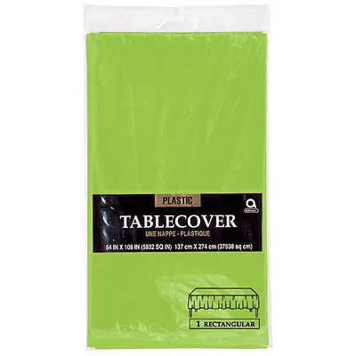 Amscan 54 x 108 Kiwi Plastic Tablecover, 12/Pack (77015.53)